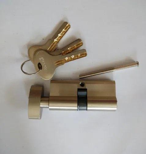 Kmex Golden Brass lock Cylinder, Size: 60mm 70mm 80mm