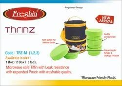 Stainless Steel,Plastic Green,Red Freshia Thrinz Insulated Tiffin Box, for School,Office