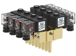 1/4 Direct Acting Gang Solenoid Valve 8 Station (Brass) 10MM