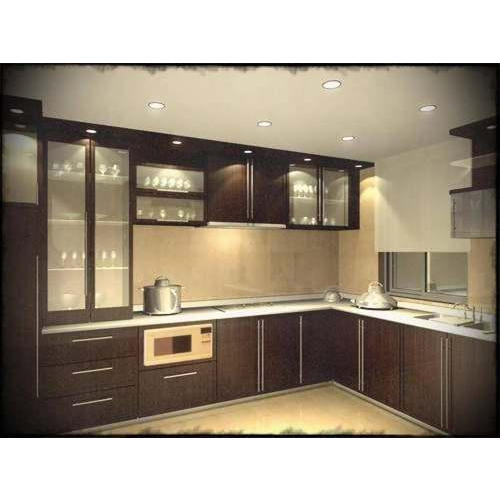 L Shaped Modern Kitchen Designs: L Shape Modern Kitchen At Rs 800 /square Feet