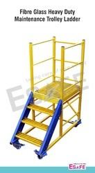 Fibre Glass Heavy Duty Maintenance Trolley Ladders