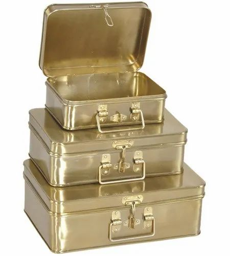 Brass Decorative Box, Set of 3