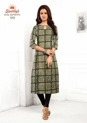 Sandhya Kalapriya Fancy Cotton Kurti for Women