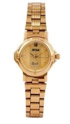 Formal Artshai Quartz Golden Womens Wrist Watch for Personal Use