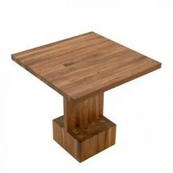 Sunny Overseas Brown Wooden Square Restaurant Table