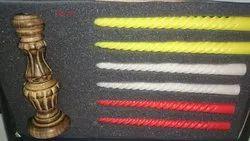 Multi-coloured Candle Set