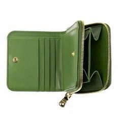 Green Ladies Leather Wallet