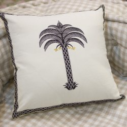 Palm Tree Embroidery Sofa Pillow