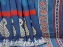 Exclusive Natural Bagru Hand Block Printed Cotton Saree