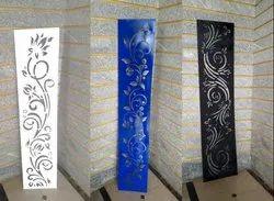 White Mild Steel Laser Cut Decorative Panel, Packaging Type: Bubble Sheet