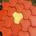 Red And Yellow Concrete Trihex Broad Shape Paver Block, For Landscaping, Thickness: 40-70 Mm