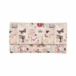 Azzra Cream Wallet Clutch