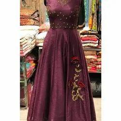 Wine Silk Gown
