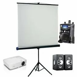 Projector, Audio, Screen On Rent