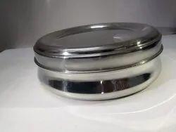 Silver Steel Masala Daba, Capacity: 1.5 Ltrs, Size: 8 9