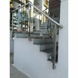 Toughened Glass Staircase Railing