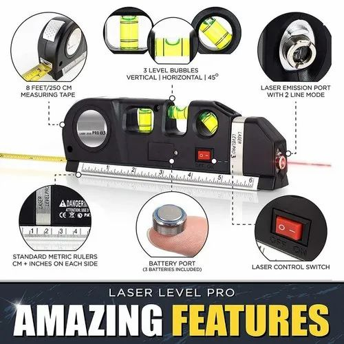 5 inch Vertical and Horizontal Laser Level Vertical Line Measure Measuring Tape