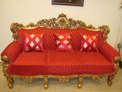 Sunny Overseas Traditional Royal Carved Sofa for Hotel