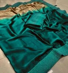 Zari Plain Sana Silk Sarees With Blouse Piece