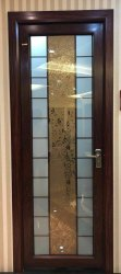 Etched Glass Designer Bathroom Door