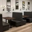Rustic Green Black Double Side Restaurant Booth, Seating Capacity: 4 Person