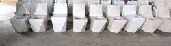 White S Square Diamond One Piece Toilet