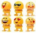 Cute Emoji Bobble Head Dolls Car Ornaments Bounce Toy
