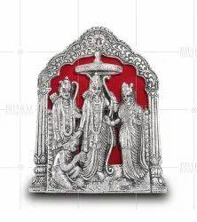 Silver Plated Ram Darwar Frame