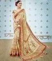 Formal Wear Shree Exports Cream Pure Banarasi Silk Saree