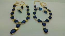 Color Stone Dark Polki Necklace Set