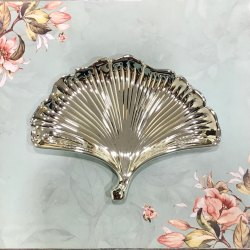 Fan Shaped Silver Tray