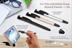 L124 - 4 in 1 Pen With Mobile Stand, Stylus And Cleaner