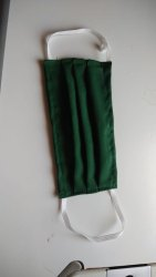 Millenium Surgicals Reusable Green Cotton Face Mask, Number of Layers: 2 Layers