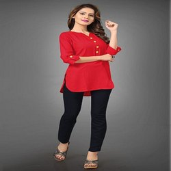 Women's Short Kurti Rayon