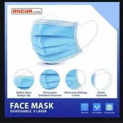 3 Ply Mask Without Nose Pin