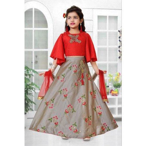 fd35bce4ac7f0 Georgette Embroidered Kids Designer Gown, Size: 24-38, Rs 995 /piece ...