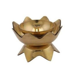 Festivals Antique Golden Kamal Deep Brass Diya