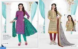 Female Multicolor COTTON CHUDIDAR DRESS MATIRYAL