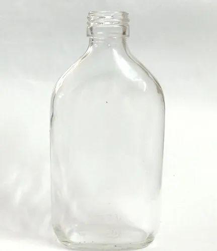180 ml Flat Liquor Glass Bottle