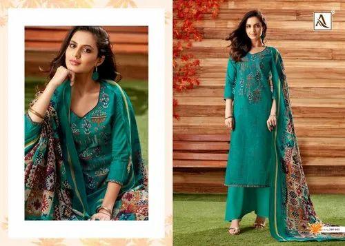 43d468b5d5 Cotton Dress Material - Lawn Cotton Embroider Dress Materials Set ...