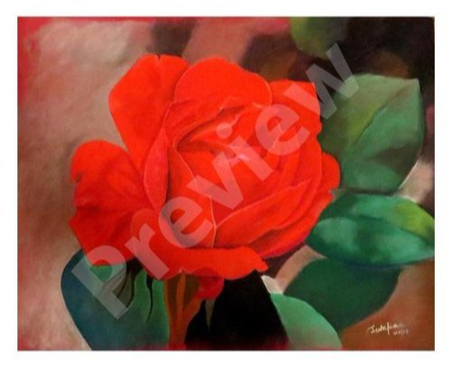 Acrylic Modern Rose Canvas Painting Wall Art, Sutapa