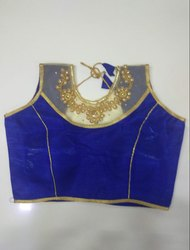 Royal Blue Art Silk Readymade Blouse