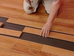 Laminated Wooden Flooring Service, For Indoor