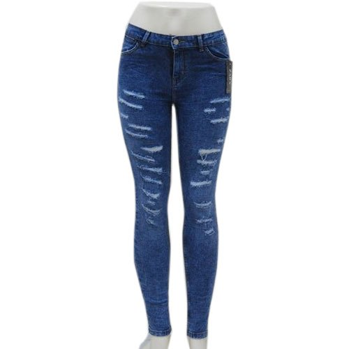 Fashion Biz Blue Ladies Ripped Jeans