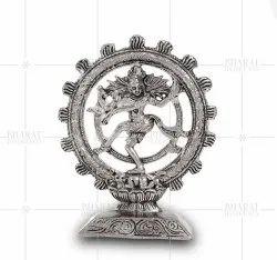 Silver Plated Natraj Statue