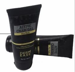 Derm Ease Herbal Active Charcoal Face Wash, For Personal, Packaging Size: 100gm