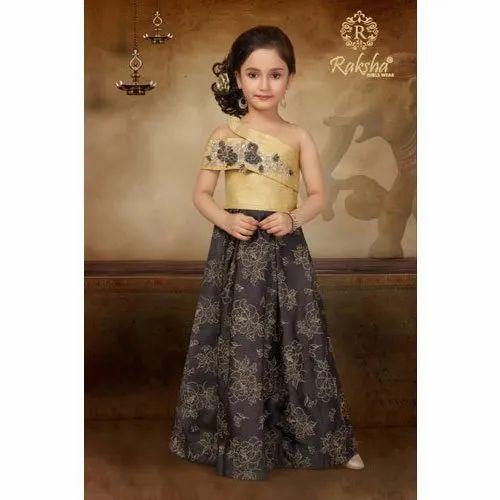one side shoulder dress for kids