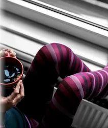 Lycra Printed Pink Ledies Leggings