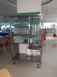 SILVER COLOUR STAINLESS STEEL STAND FOR WATER CAN, Size: Customosed