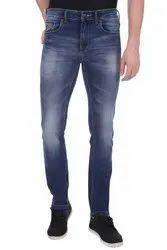 Denim Faded Men's Jeans, Waist Size: 28-36